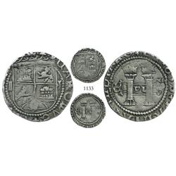 Santo Domingo, Dominican Republic, 2 reales, Charles-Joanna, assayer F to right (rotated), very rare