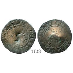 Santo Domingo, Dominican Republic, copper 4 maravedis, Charles-Joanna, assayer not visible (F), with