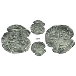 Panama, cob 2 reales, Philip II, assayer oB, extremely rare.