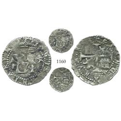 Panama, cob 1/2 real, Philip II, assayer oX, very rare.