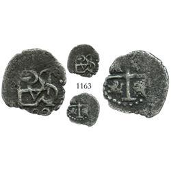Cartagena, Colombia (?), cob 1/2 real, Philip IV, 162(?), no assayer.
