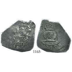 Guatemala, cob 8 reales, 1752J, encapsulated NGC F-12.