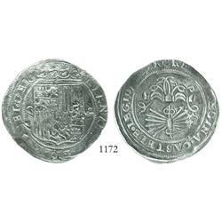 Seville, Spain, 8 reales, Ferdinand-Isabel, assayer Gothic D.