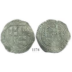 Seville, Spain, 4 reales, Ferdinand-Isabel, assayer *.