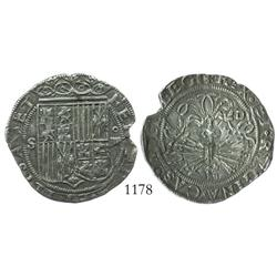 Seville, Spain, 4 reales, Ferdinand-Isabel, assayer Gothic D.
