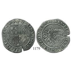 Toledo, Spain, 4 reales, Ferdinand-Isabel, assayer M, rare.
