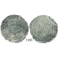 Seville, Spain, 2 reales, Ferdinand-Isabel, assayer *.
