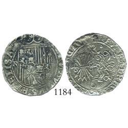 Granada, Spain, 1 real, Ferdinand-Isabel, assayer R.