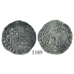 Toledo, Spain, 1 real, Ferdinand-Isabel, assayer M.