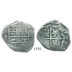 Seville, Spain, cob 8 reales, Philip IV, 164(?)R.