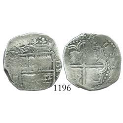 Seville, Spain, cob 2 reales, 1589, assayer Gothic D.