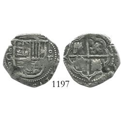 Granada, Spain, cob 1 real, Philip II, assayer F.