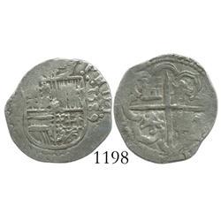 Seville, Spain, cob 1 real, 1589, assayer Gothic D.