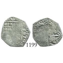 Seville, Spain, cob 1 real, 1592(B).