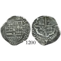 Seville, Spain, cob 1 real, 1596(B).