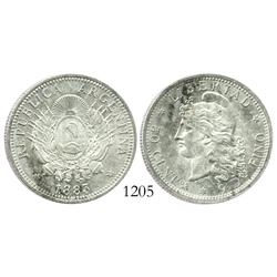 Argentina, 50 centavos, 1883, Mint State.