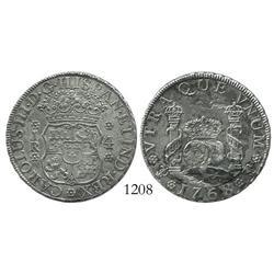 Potosi, Bolivia, pillar 4 reales, Charles III, 1768JR.