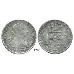 Potosi, Bolivia, bust 8 reales, Charles III, 1774JR.