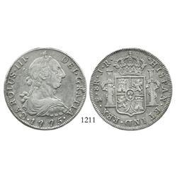 Potosi, Bolivia, bust 8 reales, Charles III, 1775JR.