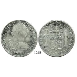 Potosi, Bolivia, bust 8 reales, Charles III, 1780/9PR.