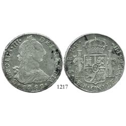 Potosi, Bolivia, bust 8 reales, Charles III, 1782PR.