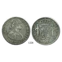 Potosi, Bolivia, bust 8 reales, Charles IV, 1795PP.
