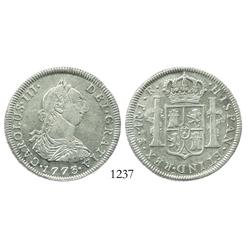 Potosi, Bolivia, bust 4 reales, Charles III, 1773JR.