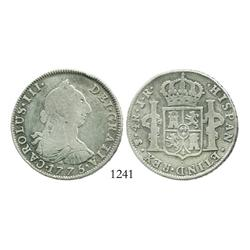Potosi, Bolivia, bust 4 reales, Charles III, 1775JR.