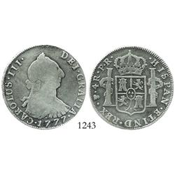 Potosi, Bolivia, bust 4 reales, Charles III, 1777PR.