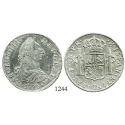 Potosi, Bolivia, bust 4 reales, Charles III, 1778PR.