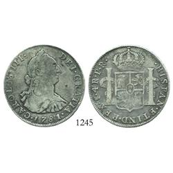 Potosi, Bolivia, bust 4 reales, Charles III, 1781PR.