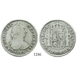 Potosi, Bolivia, bust 4 reales, Charles III, 1783PR.