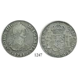 Potosi, Bolivia, bust 4 reales, Charles III, 1785PR.