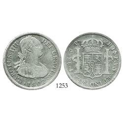 Potosi, Bolivia, bust 4 reales, Charles IV, 1802PP.