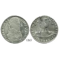 Potosi, Bolivia, 8 soles, 1832JL, choice grade.