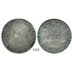 Potosi, Bolivia, 8 soles, 1833LM, encapsulated NGC AU-50.