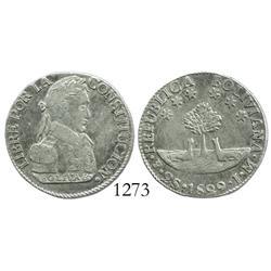 Potosi, Bolivia, 2 soles, 1829JM.