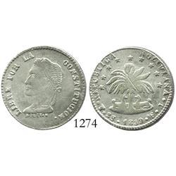 Potosi, Bolivia, 2 soles, 1859FJ, no weight and fineness in legend.