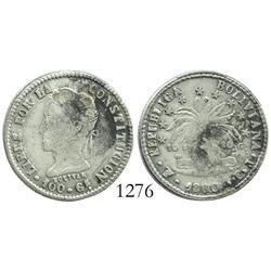 Potosi, Bolivia, 2 soles, 1860/60FJ.