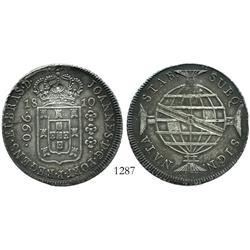 Brazil (Rio mint), 960 reis, 1810-R, with eagle countermark (Frankfurt, Germany?).