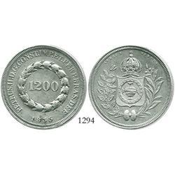 Brazil, 1200 reis, 1835.