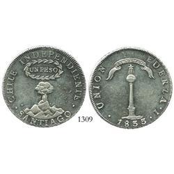 """Santiago, Chile, """"volcano"""" peso, 1833I."""