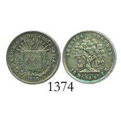 Costa Rica, 1/16 peso, 1855/0JB.