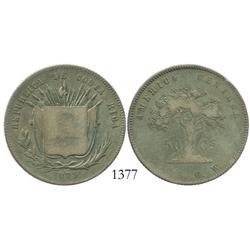 Costa Rica, 50 centavos, 1875GW.