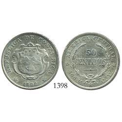 Costa Rica, 50 centimos, 1902CY.