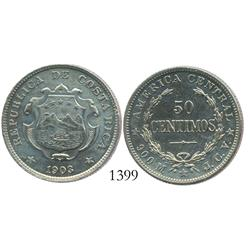 Costa Rica, 50 centimos, 1903JCV.