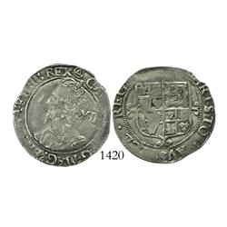 London, England, shilling, Charles I (Tower mint, 1625-43), triangle-in-circle mintmark (1641-3).