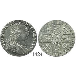 London, England, shilling, 1787, George III.