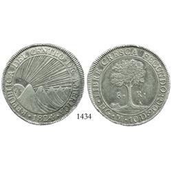 Guatemala, 8 reales, 1824M.