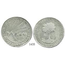 Guatemala, 8 reales, 1840MA.